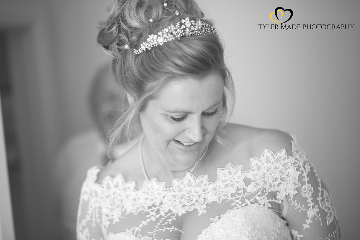 Bride in Wedding dress by Kent Wedding Photographer Tyler Made Photography