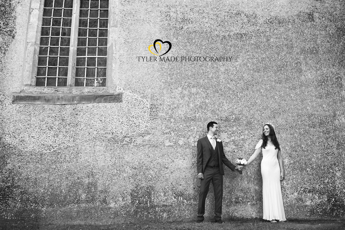 Bride and Groom holding hands by Kent Wedding Photographer Tyler Made Photography