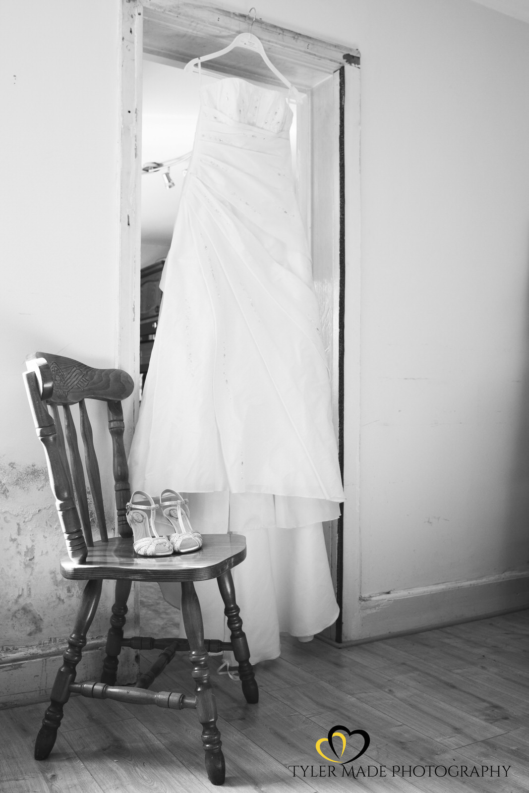 Wedding Dress for wedding at The Barn, Upchurch Wedding Venue by Kent Wedding Photographer Tyler Made Photography