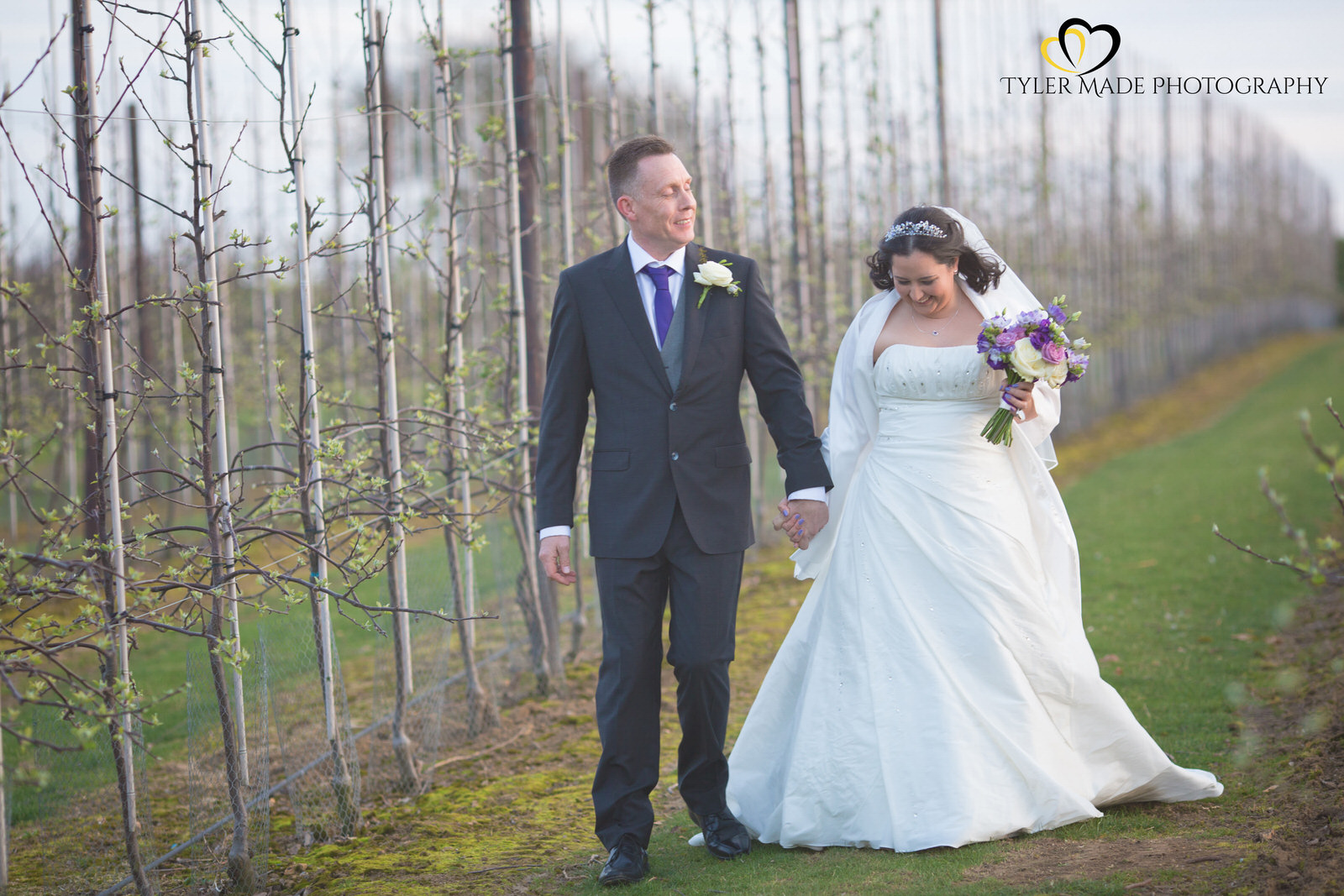 Bride and Groom at The Barn, Upchurch Wedding Venue by Kent Wedding Photographer Tyler Made Photography