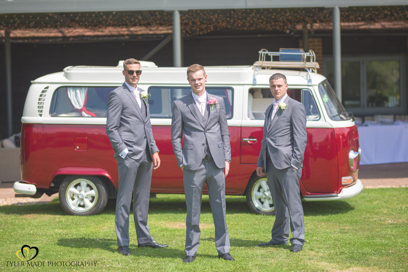 The Groom and Groomsmen at The Gardens in Yalding