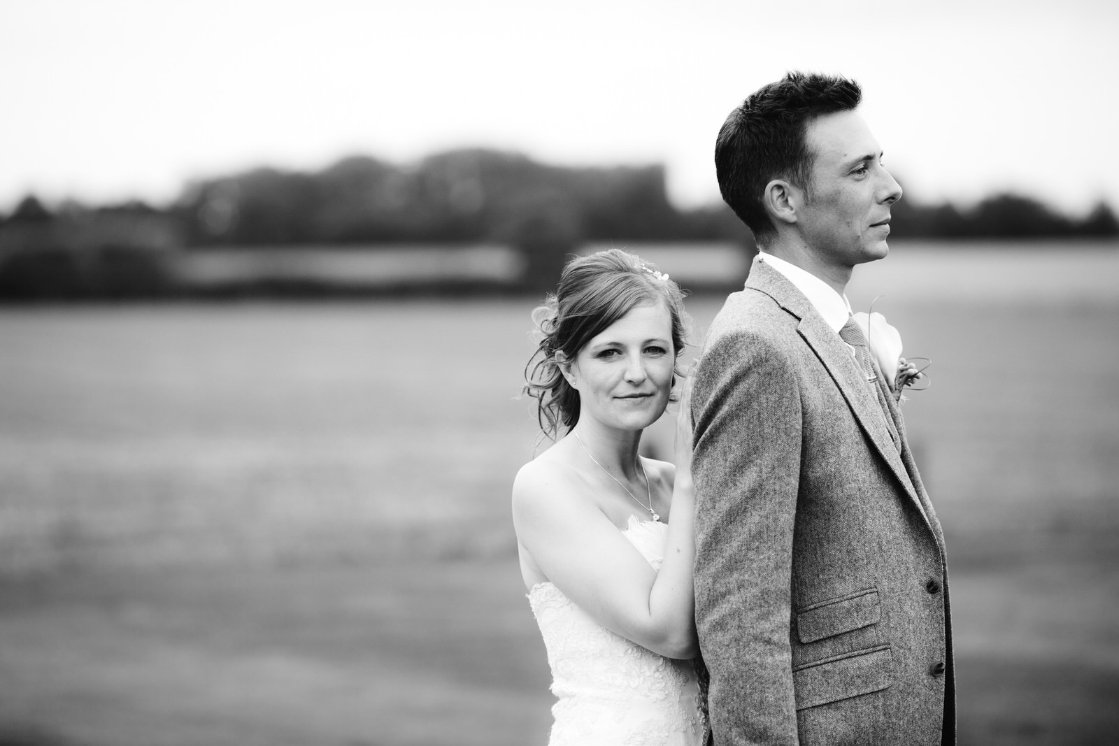 Bride and Groom Pose at Winters Barn by Tyler Made Photography