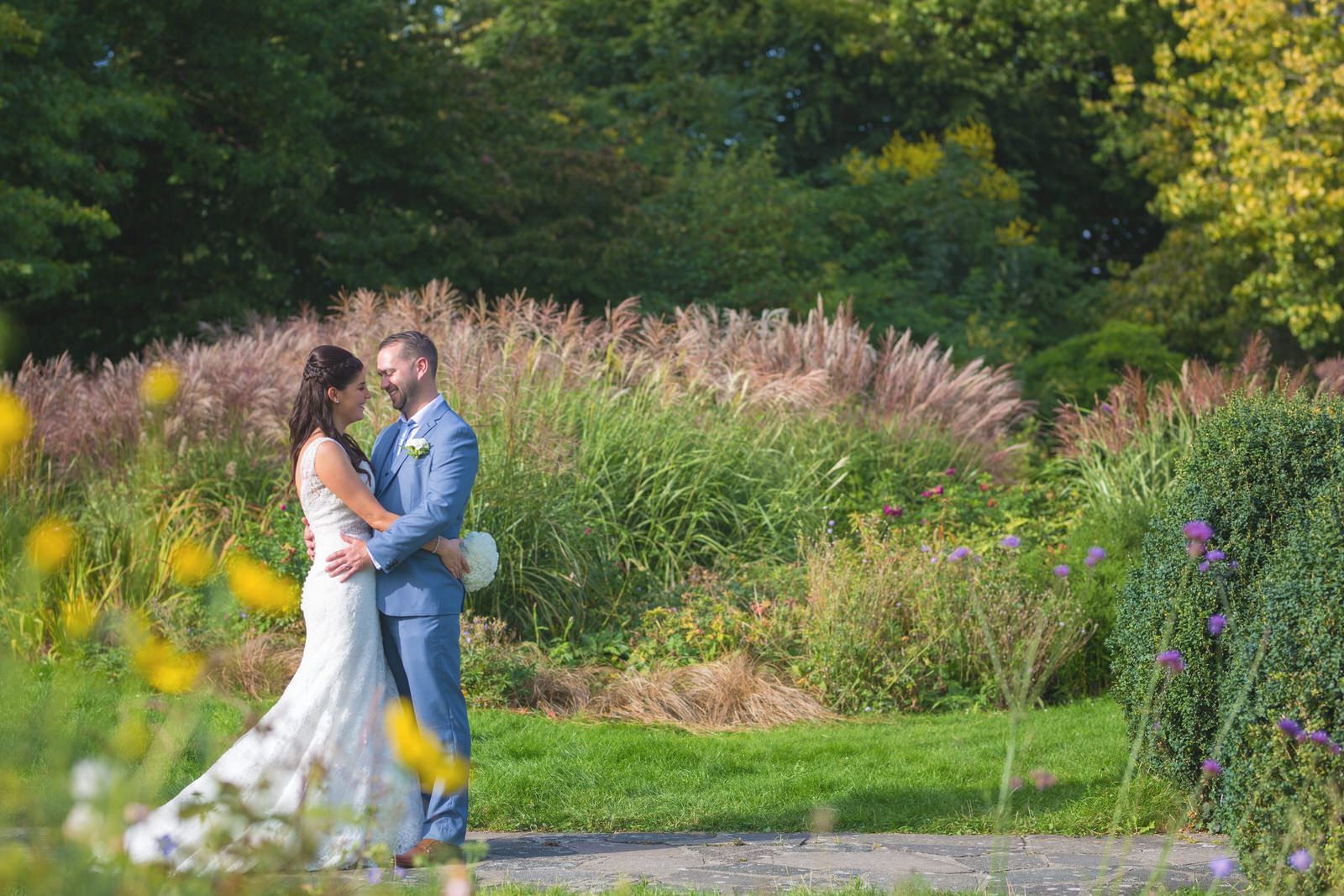 Bride and Groom at Danson House gardens by Tyler Made Photography