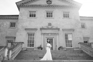 Bride on Steps at Danson House by Tyler Made Photography