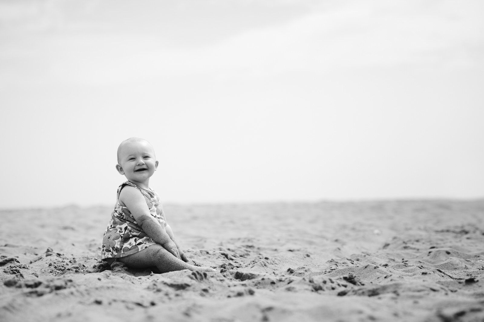 Baby on the Beach by Kent Family Photographer Tyler Made Photography