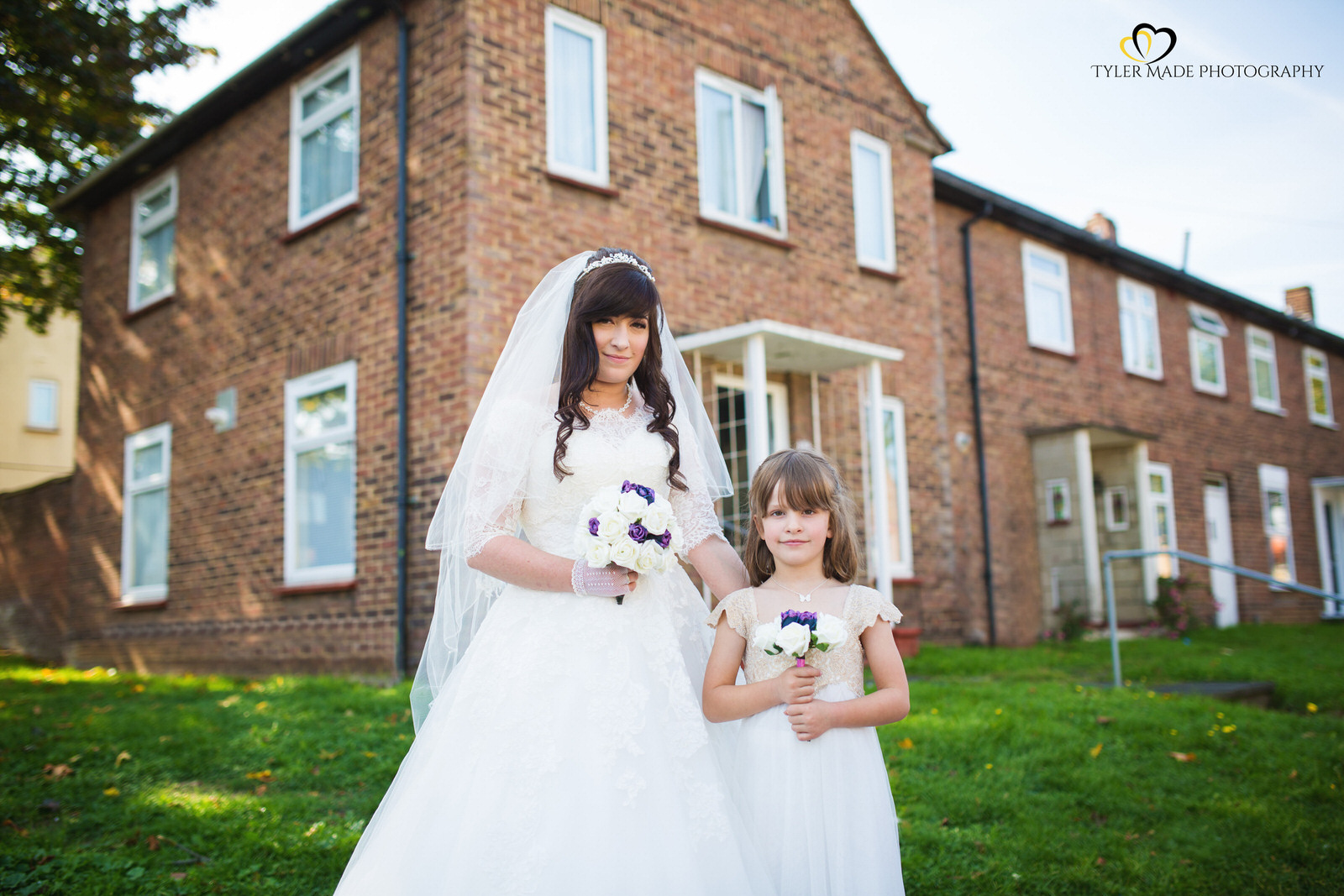 Bride and Flowergirl by Tyler Made Photography