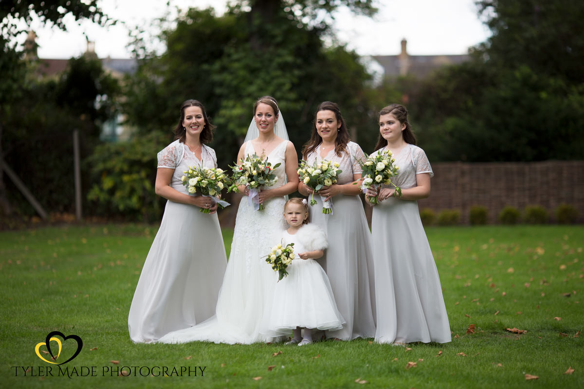 Bride and Bridemaids in Putney London by Tyler Made Photography