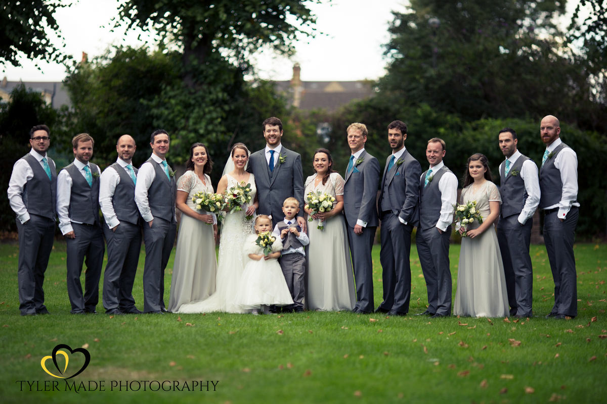 A Formal Wedding Group Shot by Tyler Made Photography