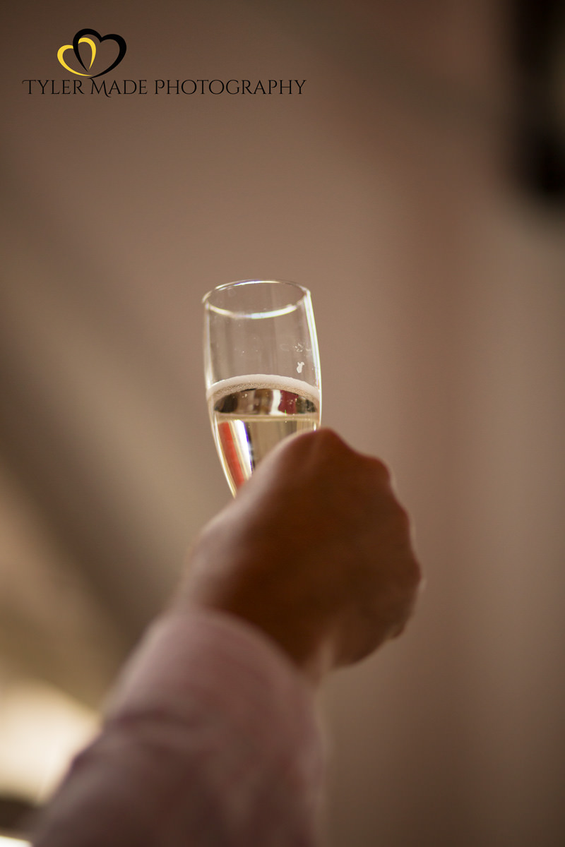 Champagne Toast at a London Wedding by Tyler Made Photography